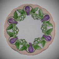 Moritz Zdekauer (MZ) Austria Floral & Vine Motif Plate (c.1910-1930)