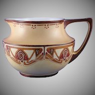 "JP Limoges Abstract Berry & Vine Motif Pitcher (Signed H. Korros""/c.1914-1930) - Keramic Studio Design"