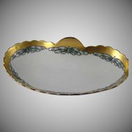 "Oscar & Edgar Gutherz (O&EG) Austria Butterfly Motif Dish/Tray (Signed ""F.M. Stoddard""/Dated 1915) - Keramic Studio Design"