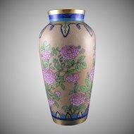 Heinrich & Co. (H&Co.) Bavaria Floral/Zinnia Design Vase (c.1896-1940)
