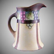 William Guerin & Co. (WG&Co.) Limoges Grape Motif Pitcher (Signed/c.1900-1932)