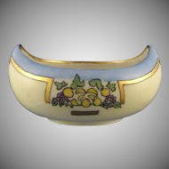 "Bavaria/Germany Fruit Motif Dish (Signed ""Isabel Monstani""/Dated 1915) - Keramic Studio Design"
