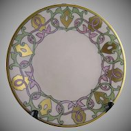 William Guerin & Co. (WG&Co) Limoges Arts & Crafts Plate (Signed/Dated 1916)