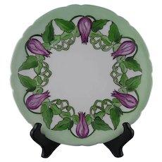JP Limoges Floral & Vine Design Plate (c.1890-1932)