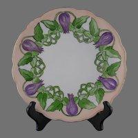 MZ Austria Floral & Vine Design Plate (c.1910-1930)