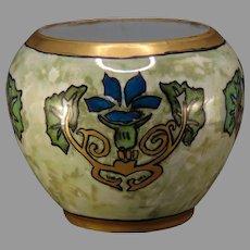 """Pfeiffer & Lowenstein (P&L) Austria Floral """"Vegetable Marrow"""" Design Vase (c.1917-1930's) - Keramic Studio Design"""