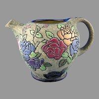 Czechoslovakia Amphora Enameled Floral Design Pitcher (c. 1918-1939)
