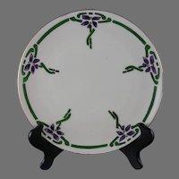 KPM Art Deco Floral Design Plate (c.1904-1927)
