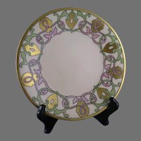 "WG&Co. Limoges Geometric Plate (Signed ""CSC""/Dated 1916)"