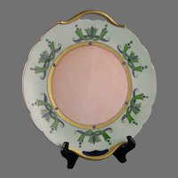 "P&P Limoges Handled Plate (Signed ""B. Bowser""/c.1903-1917)"