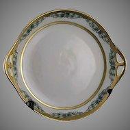 "H.C. Bavaria Butterfly/Dragonfly Design Serving Plate (Signed ""F.M. Stoddard""/Dated 1917) - Keramic Studio Design"