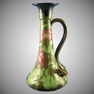 Amphora Austria RStK Arts & Crafts Poppy Motif Candlestick (c.1900-1904)