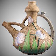 "Amphora Austria Arts & Crafts ""Florina"" Enameled Tulips Design Pitcher (c.1907-1908)"