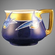 "B&Co. Limoges Bluebird Motif Pitcher (Signed ""Sandwich""/c.1914-1930)"