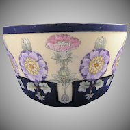 Jaeger & Co. Bavaria Enameled Floral Motif Bowl (c.1907-1930) - Keramic Studio Design