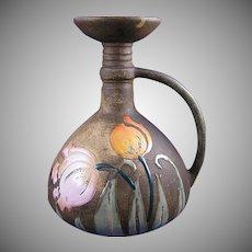 "Amphora Austria Arts & Crafts ""Florina"" Enameled Tulips Design Vase/Pitcher (c.1907-1908)"