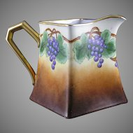 "PL Limoges Grape Motif Pitcher (Signed ""J. Walters""/c.1905-1930)"