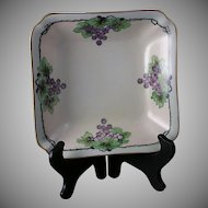 "Hutschenreuther Bavaria Grape Motif Dish (Signed ""Mildred Halleren""/Dated 1924)"