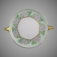 "Rosenthal Bavaria Rose Motif Handled Serving Plate/Dish (Signed ""BW""/c.1909-1930) - Keramic Studio Design"