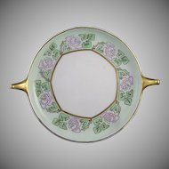Rosenthal Donatello Rose Motif Handled Serving Plate/Dish (Signed/c.1909-1930) - Keramic Studio Design