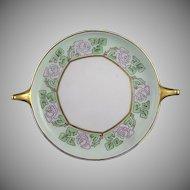 """Rosenthal Bavaria Rose Motif Handled Serving Plate/Dish (Signed """"BW""""/c.1909-1930) - Keramic Studio Design"""