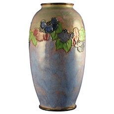 "Royal Doulton Arts & Crafts Floral Motif Vase (Signed ""Winnie Bowstead""/c.1923-1927)"