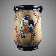 """Amphora Austria """"Campina"""" Parrots Motif Arts & Crafts Vase (c.1905-1910)"""