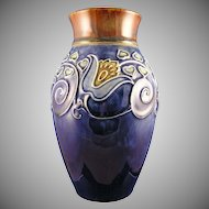 Royal Doulton Lambeth Arts & Crafts Floral Motif Vase (Signed/c.1923-1927)