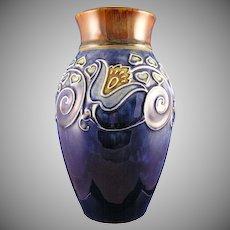 Royal Doulton Lambeth Arts & Crafts Floral Motif Vase (Signed/c.1923-1927)