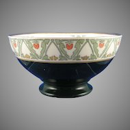 "P&P Limoges ""Japanese Tomato Berry"" Design Bowl (Signed ""M. Diebel""/c.1913-1930) - Keramic Studio Design"