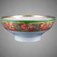 Haviland Limoges Nasturtium Motif Centerpiece Bowl (Signed/Dated 1911)