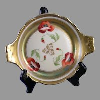 "Pickard Studios ""Poppy Iridescent"" Design Dish/Tray (Signed ""Fuchs""/c.1905-1910)"