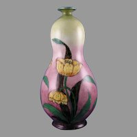 "Royal Bonn Germany ""Old Dutch"" Tulip Motif Vase (c.1890-1923)"