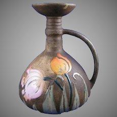 "Amphora Austria Arts & Crafts ""Florina"" Enameled Tulips Design Pitcher/Ewer (c.1907-1908)"