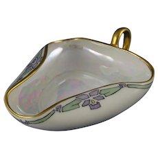 """Bavaria Art Deco Floral Design Handled Dish (Signed """"K.G.G.""""/Dated 1915)"""