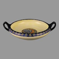 "RS Germany Art Deco Design Handled Dish (Signed ""GJH""/c.1917-1930) - Keramic Studio Design"