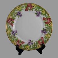 CA Limoges Floral Design Plate (c.1909-1930) - Keramic Studio Design