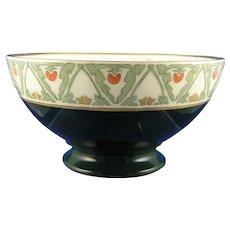 """P&P Limoges """"Japanese Tomato Berry"""" Design Bowl (Signed """"M. Diebel""""/c.1913-1920) - Keramic Studio Design"""
