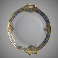 "Hutschenreuther Selb Bavaria Floral Handled Plate (Signed ""C. Burton""/c.1920-1940)"