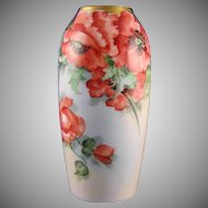 """Rosenthal Bavaria Poppy Motif Vase (Signed """"G. Champlin""""/c.1901-1940)"""