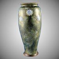 Royal Doulton Arts & Crafts Blue Floral Vase (Signed by Lily Partington/c.1923-1927)
