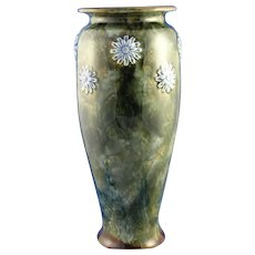 Royal Doulton Arts & Crafts Floral Motif Vase (Signed by Lily Partington//c.1923-1927)