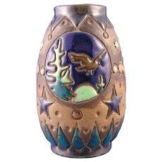 Amphora Austria Arts & Crafts Scenic Design Vase (c. 1900-1905)