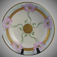 "White's Studio Chicago Floral Motif Bowl (Signed ""Keates"" /c.1914-1923)"