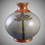 Count Thun Porcelain Factory Czechoslovakia Art Deco Design Vase (Signed/c.1918-1939)