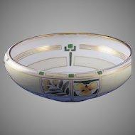"""Hutschenreuther Favorite Bavaria Floral Design Bowl (Signed """"Lou B.""""/c.1910-1940)"""