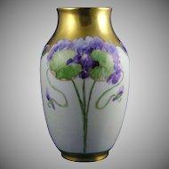 Rosenthal Bavaria Violet Motif Vase (Signed/c.1901-1956)