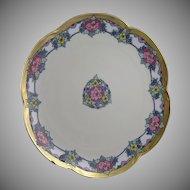 Hutschenreuther Bavaria Floral Design Plate (Signed/c.1910-1930)