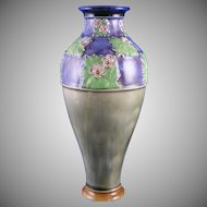 "Royal Doulton Arts & Crafts Floral Motif Vase (Signed by ""LF Bowen""/c.1923-1927)"