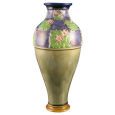 "Royal Doulton Arts & Crafts Floral Motif Vase (Signed by ""LF Bowen""/c.1923-1927)"
